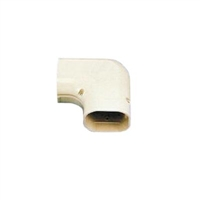 "SlimDuct 90 Degree Flat Elbow (3"" W x 2-1/2"" D) - Brown"