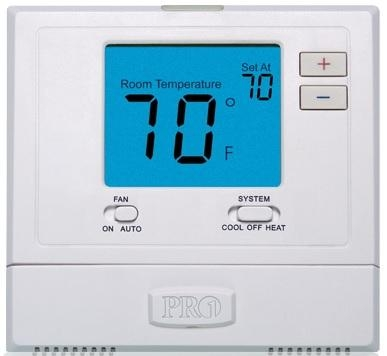 Pro1 Digital Non-Programmable 1 Heat / 1 Cool Thermostat